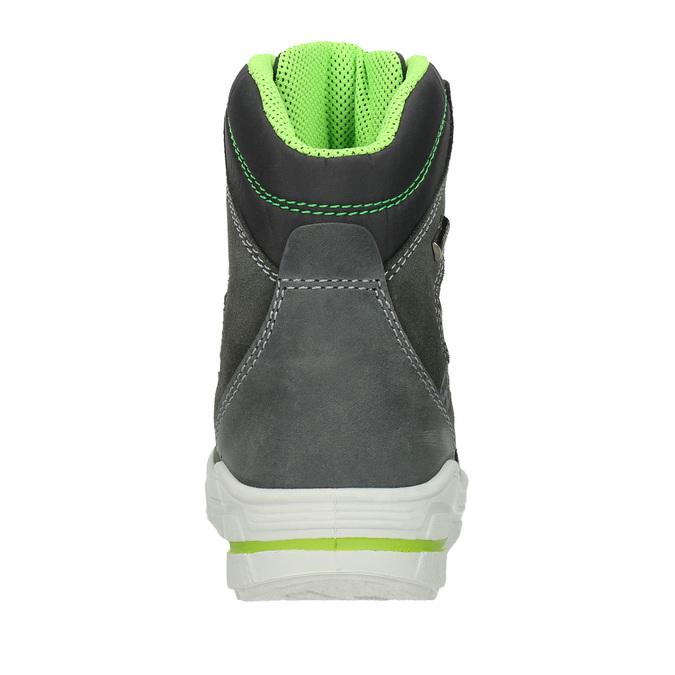 Zimowe buty dziecięce ze skóry weinbrenner-junior, szary, 493-2613 - 16