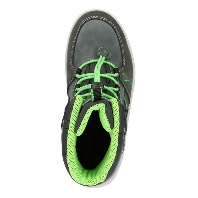 Zimowe buty dziecięce ze skóry weinbrenner-junior, szary, 493-2613 - 15