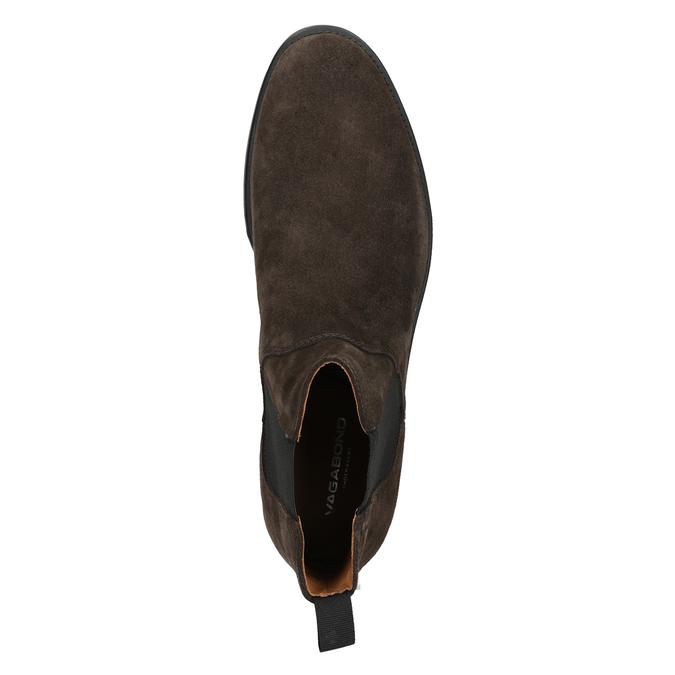 Skórzane buty męskie typu Chelsea vagabond, brązowy, 813-4019 - 15