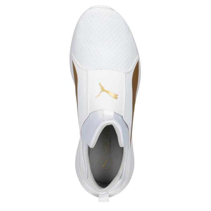 Białe trampki damskie ze złotym paskiem puma, biały, 509-1200 - 15
