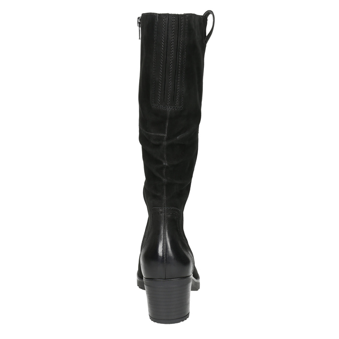 Skórzane kozaki damskie bata, czarny, 696-6649 - 17