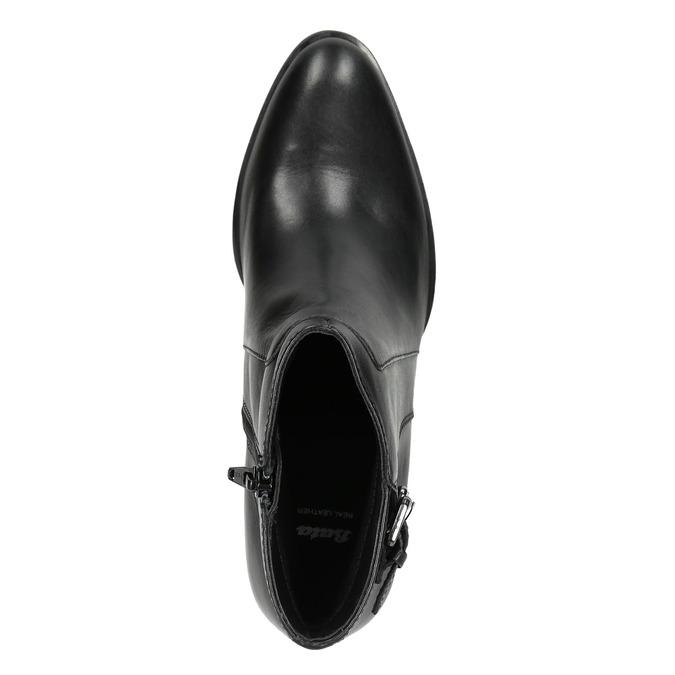Skórzane botki bata, czarny, 696-6650 - 26
