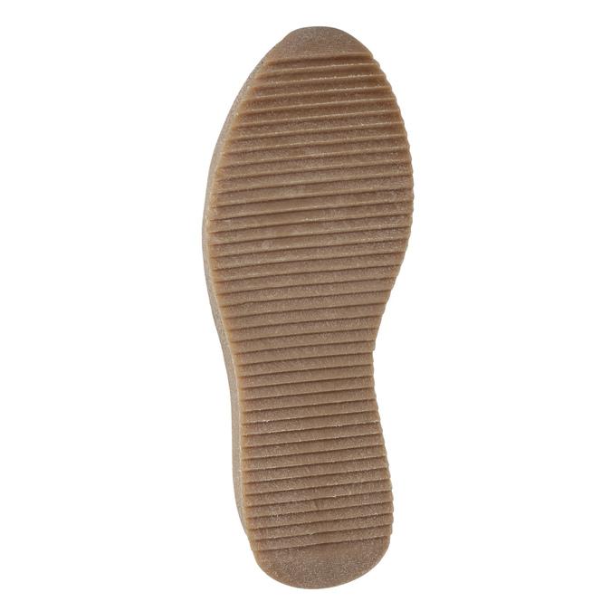 Skórzane obuwie damskie na platformie bata, szary, 596-2673 - 17