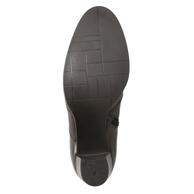 Skórzane buty za kostkę na obcasie bata, brązowy, 796-4647 - 19