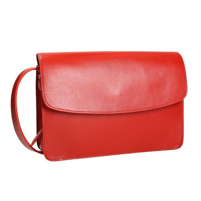 Czerwona skórzana torba vagabond, czerwony, 964-5086 - 13
