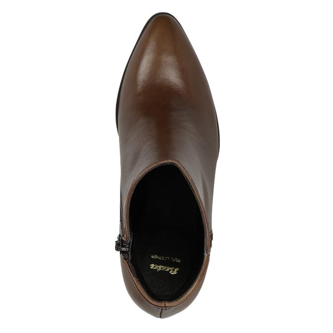 Skórzane botki bata, brązowy, 794-4650 - 15