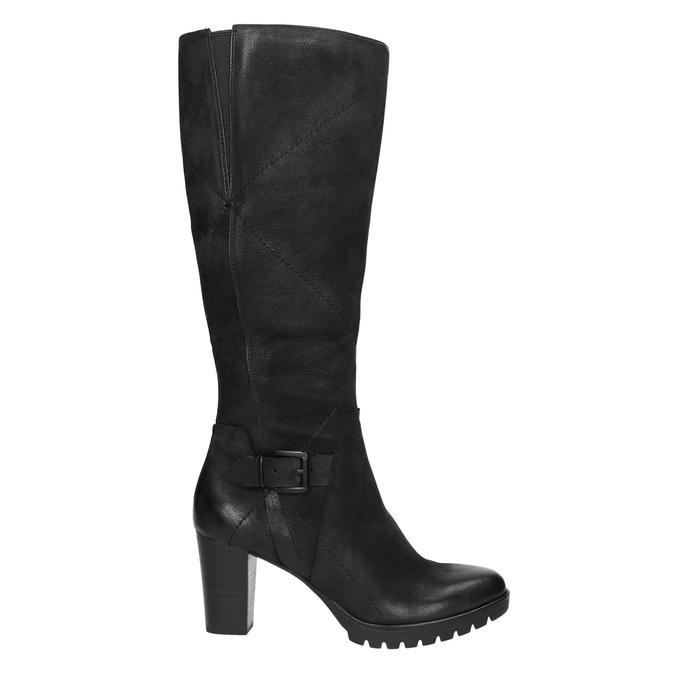 Kozaki damskie bata, czarny, 796-6601 - 15