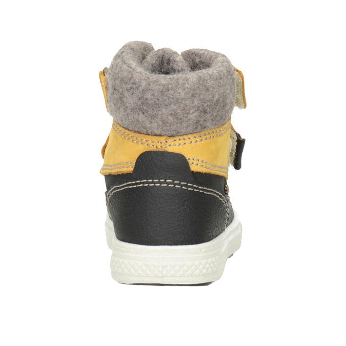 Zimowe skórzane buty dziecięce primigi, żółty, 196-8006 - 16
