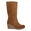 Brązowe kozaki ze skóry bata, brązowy, 793-4607 - 15