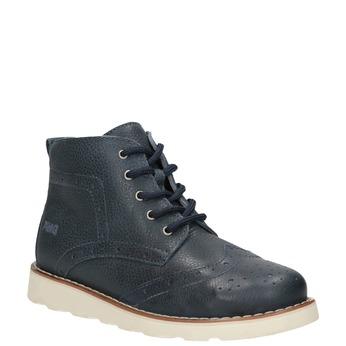 Skórzane obuwie dziecięce za kostkę primigi, niebieski, 314-9004 - 13