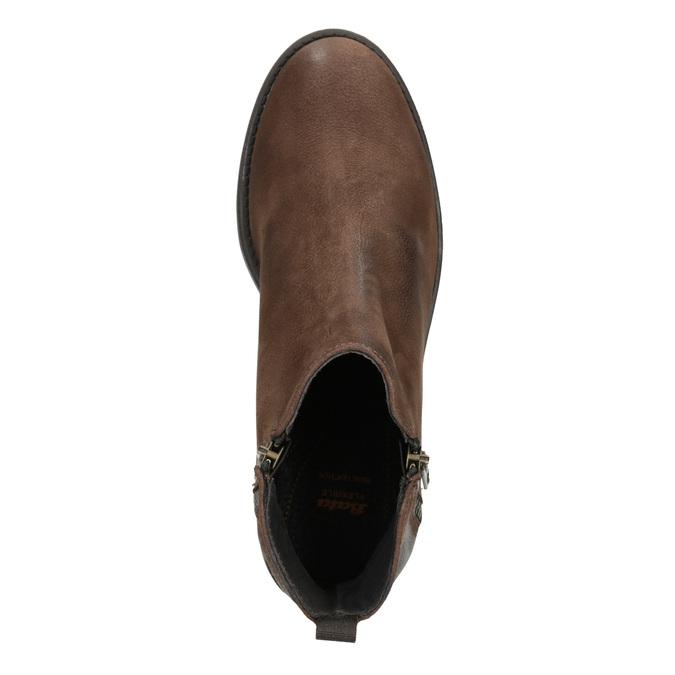 Skórzane botki zzamkami błyskawicznymi flexible, brązowy, 594-4227 - 15