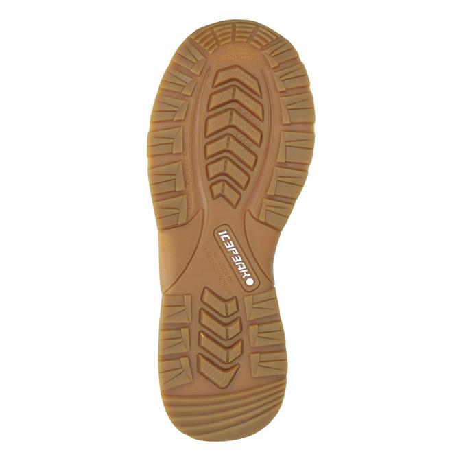 Zimowe buty dziecięce na rzepy, brązowy, 399-3018 - 17