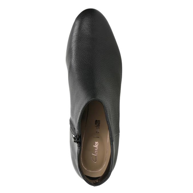 Skórzane botki na obcasach clarks, czarny, 714-6036 - 15