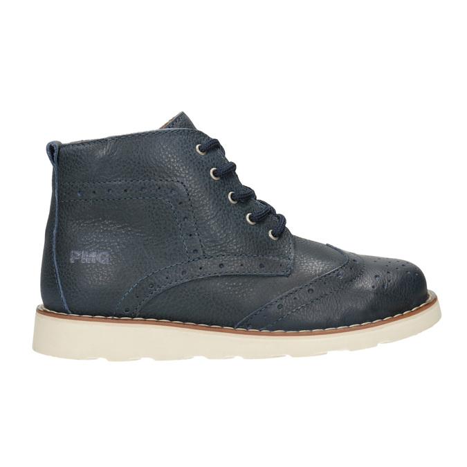 Skórzane obuwie dziecięce za kostkę primigi, niebieski, 314-9004 - 26