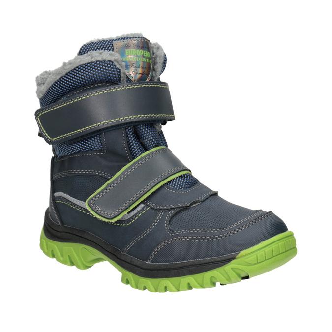 Zimowe buty dziecięce na rzepy mini-b, niebieski, 491-9654 - 13