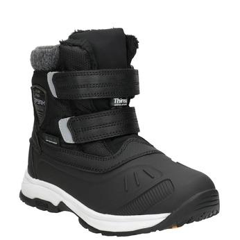 Zimowe buty dziecięce na rzepy, czarny, 399-6018 - 13