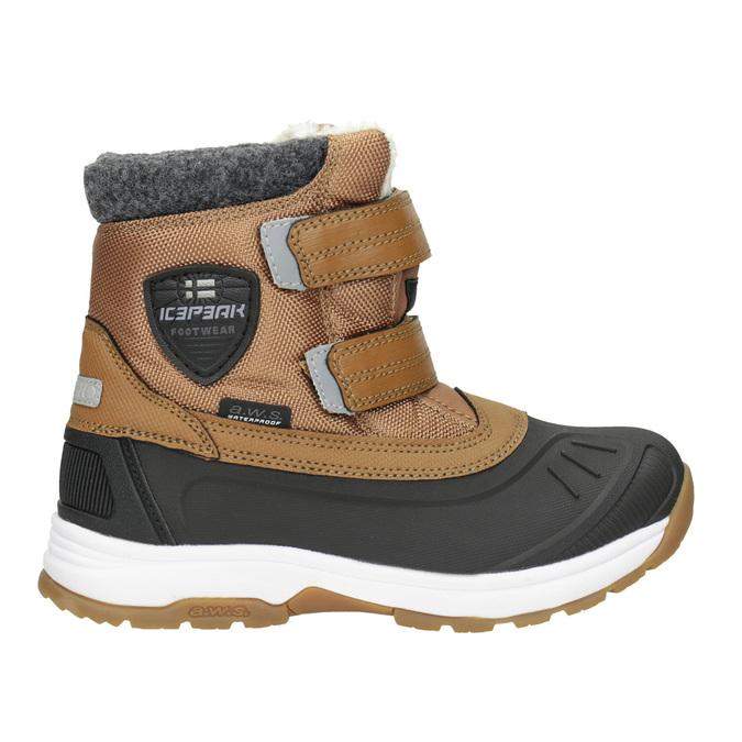 Zimowe buty dziecięce na rzepy, brązowy, 399-3018 - 26