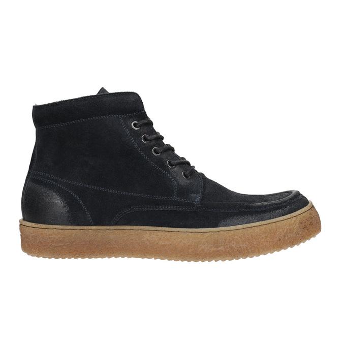 Skórzane buty męskie za kostkę bata, niebieski, 843-9631 - 15
