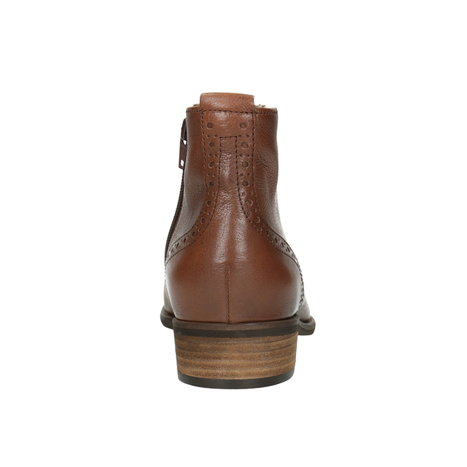 Skórzane botki damskie gabor, brązowy, 526-3038 - 16