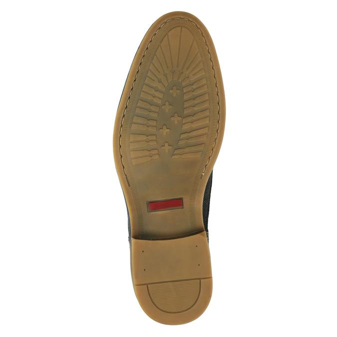 Skórzane buty męskie za kostkę bata, niebieski, 826-9920 - 17