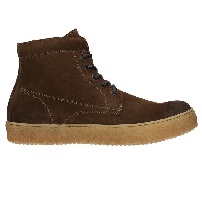 Brązowe skórzane buty za kostkę bata, brązowy, 843-3632 - 15