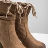 Brązowe kozaki na słupkach bata, brązowy, 799-3613 - 14