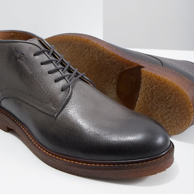 Skórzane obuwie typu chukka bata, szary, 826-3919 - 14