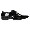 Lakierowane półbuty męskie bata, czarny, 821-6601 - 26
