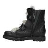 Skórzane botki zfuterkiem bata, czarny, 594-6656 - 15