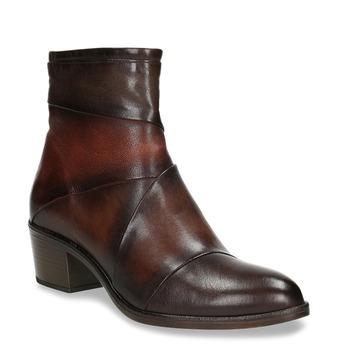 Skórzane botki damskie bata, brązowy, 696-4653 - 13