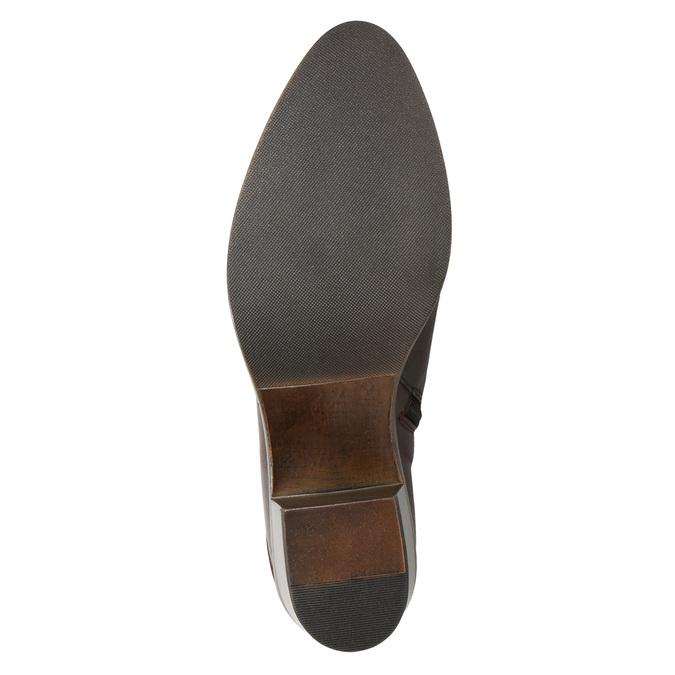 Skórzane botki damskie bata, brązowy, 696-4653 - 17