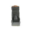Skórzane obuwie męskie na kontrastowej podeszwie weinbrenner, szary, 896-2702 - 16