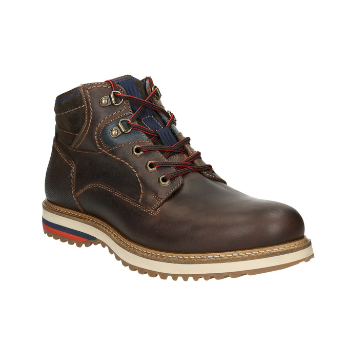 Skórzane zimowe buty męskie bata, brązowy, 896-4676 - 13