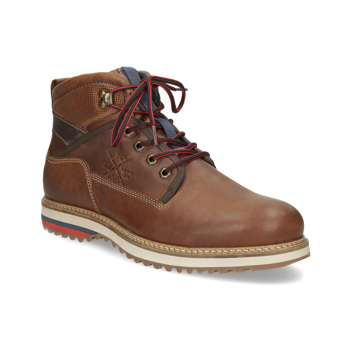 Zimowe obuwie męskie za kostkę bata, brązowy, 896-3677 - 13