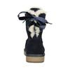 Damskie skórzane walonki bata, niebieski, 593-9604 - 17