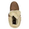 Buty za kostkę z kożuszkiem bata, brązowy, 591-4618 - 26