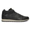 Skórzane trampki męskie zociepliną bata, czarny, 846-6646 - 19