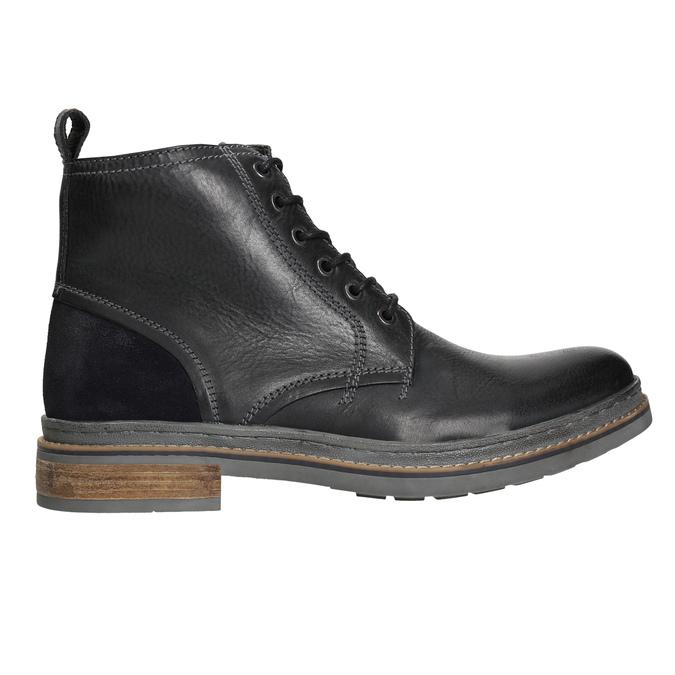 Skórzane buty zimowe za kostkę bata, czarny, 896-6685 - 15