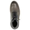 Skórzane obuwie za kostkę bata, szary, 896-2686 - 26
