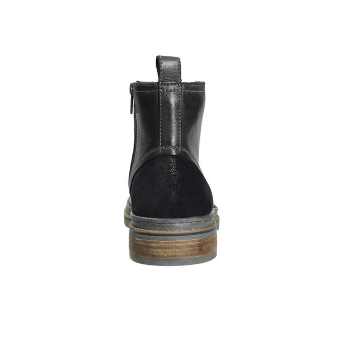 Skórzane buty zimowe za kostkę bata, czarny, 896-6685 - 17