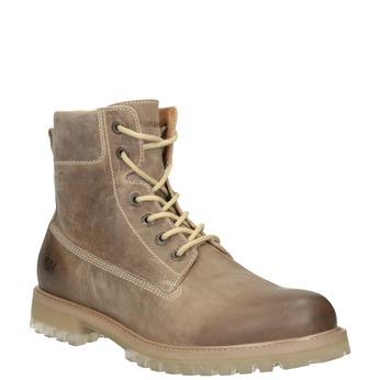 Brązowe skórzane buty za kostkę weinbrenner, 896-8702 - 13
