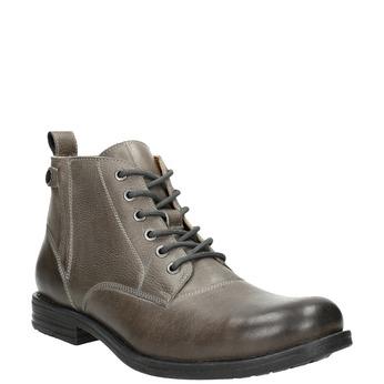 Męskie buty ombré za kostkę bata, szary, 896-2684 - 13