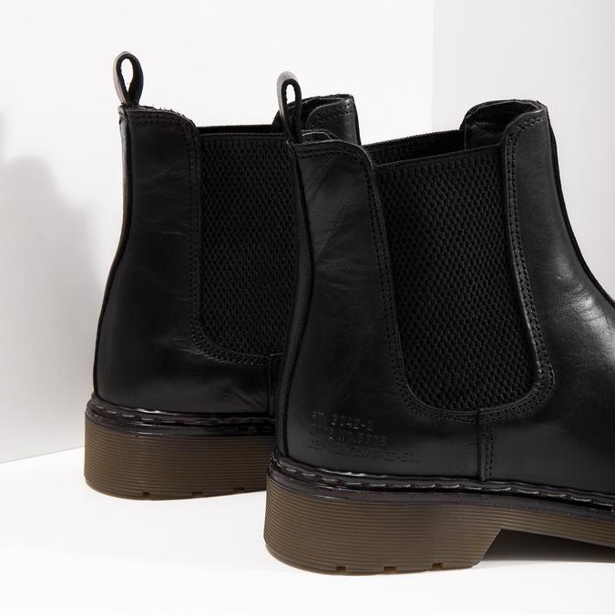 Skórzane obuwie damskie typu chelsea bata, czarny, 594-6680 - 14