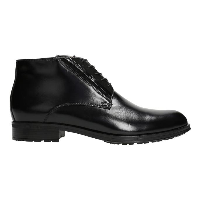 Skórzane ocieplane buty za kostkę conhpol, czarny, 894-6700 - 26