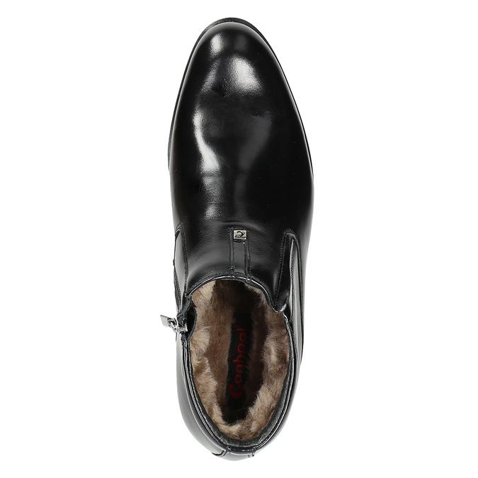 Ocieplane buty męskie za kostkę conhpol, czarny, 894-6698 - 15