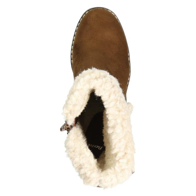 Zimowe buty damskie zklamrami bata, brązowy, 699-4637 - 26