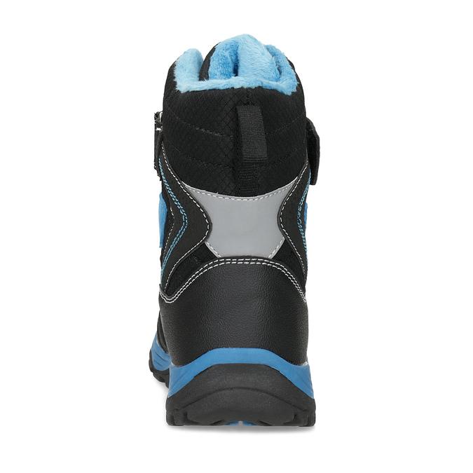 Zimowe buty dziecięce na rzepy mini-b, czarny, 491-6653 - 15