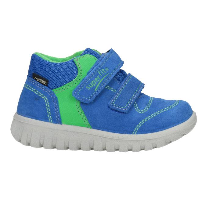 Skórzane obuwie dziecięce na rzepy, niebieski, 113-9036 - 26