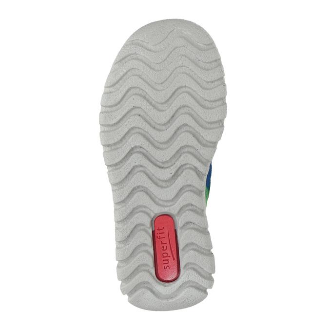 Skórzane obuwie dziecięce na rzepy, niebieski, 113-9036 - 17