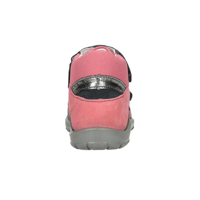 Skórzane obuwie dziewczęce za kostkę, szary, 123-2035 - 16